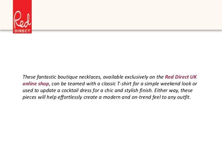 3313b13edb65d5 Boutique Necklaces on Red Direct Online Shop