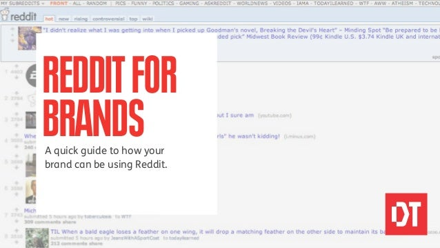 REDDIT FORBRANDSA quick guide to how yourbrand can be using Reddit.