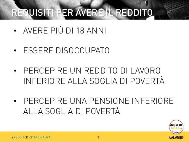 Reddito di Cittadinanza del M5S Slide 3