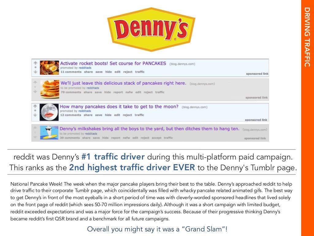 driving traffic reddit was denny s