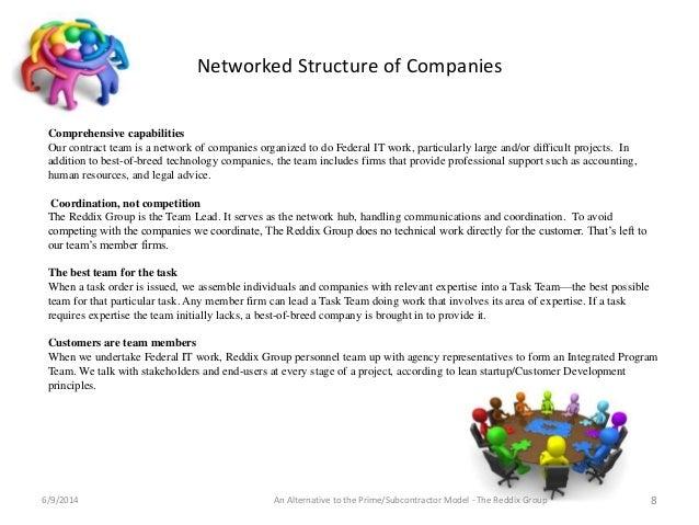 The Reddix Group:Alternative to the Prime-Subcontractor