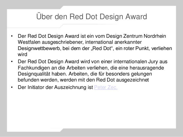 Red Dot Award 2013 Gewinner