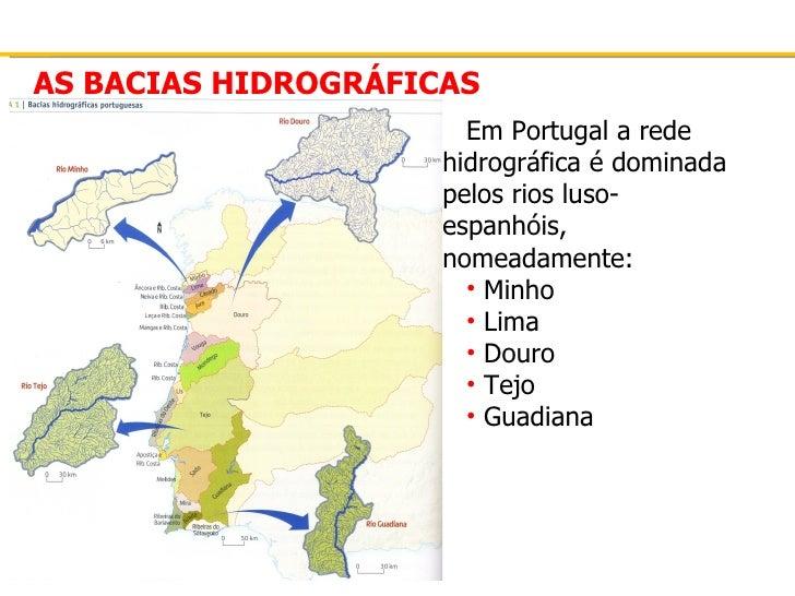 Rede   bacia hidrográfica - acidentes do litoral