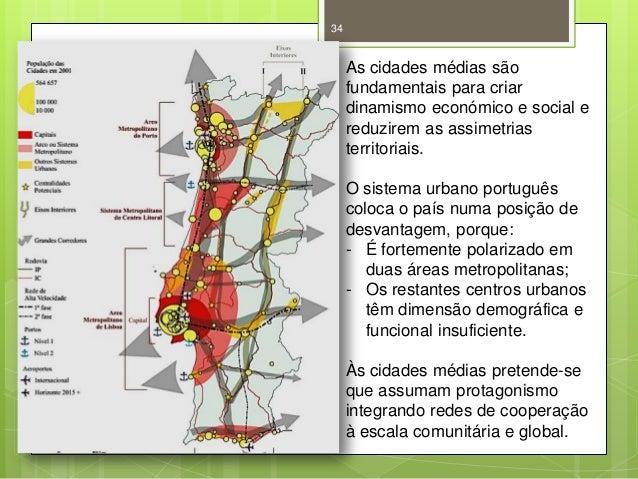 34  As cidades médias são fundamentais para criar dinamismo económico e social e reduzirem as assimetrias territoriais. O ...