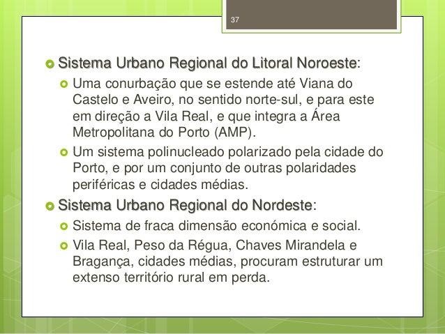 37   Sistema     Uma conurbação que se estende até Viana do Castelo e Aveiro, no sentido norte-sul, e para este em dire...