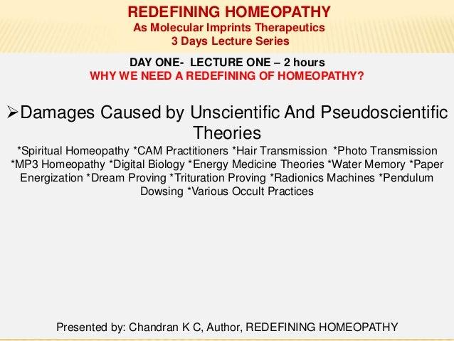 REDEFINING HOMEOPATHY PRESENTATION
