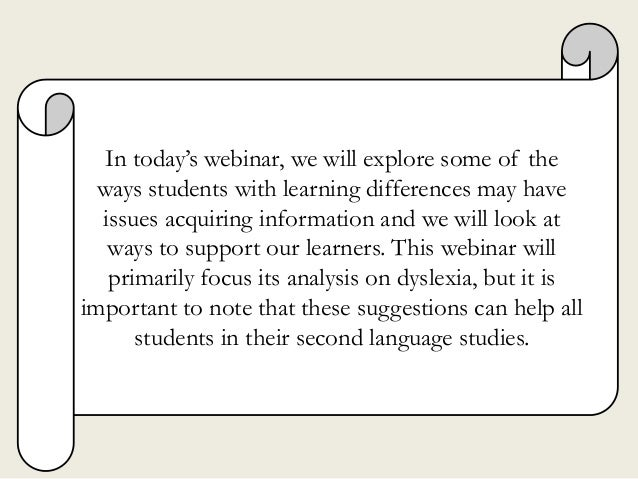 In today's webinar, we will explore some of the ways students with learning differences may have issues acquiring informat...