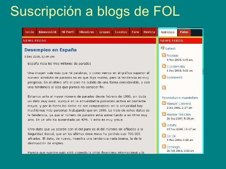 Suscripción a blogs de FOL