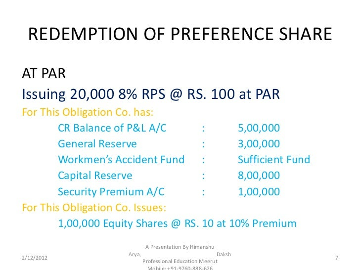 redemption of preference shares (1) subject to the provisions of this section, a company may, if so authorised by its  constitution, redeem any preference shares issued by it before 5 may 1959.