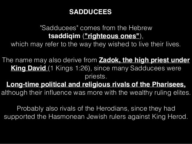 Image result for sadducees