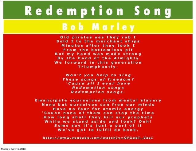 Contemporary Bob Marley Redemption Song Chords Image - Basic Guitar ...