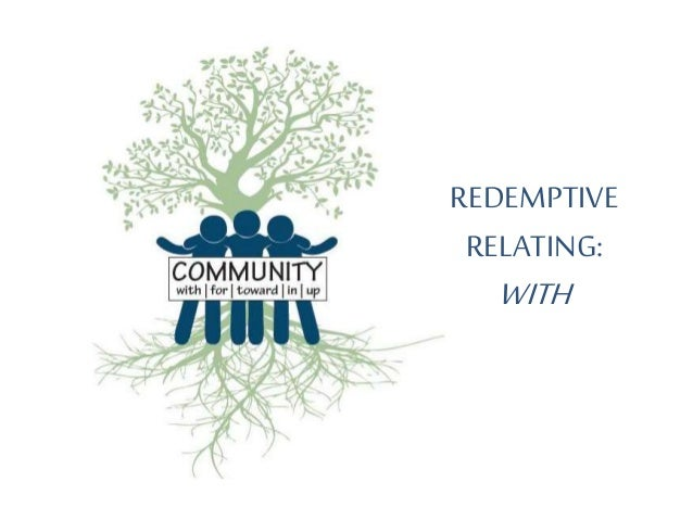 REDEMPTIVE RELATING: WITH