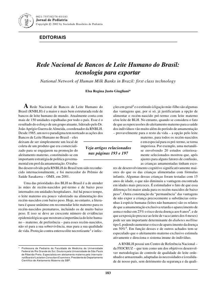 0021-7557/02/78-03/183                                                             Jornal de Pediatria - Vol. 78, Nº3, 200...