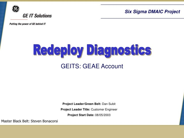 Six Sigma DMAIC Project                                      GEITS: GEAE Account                                       Pro...