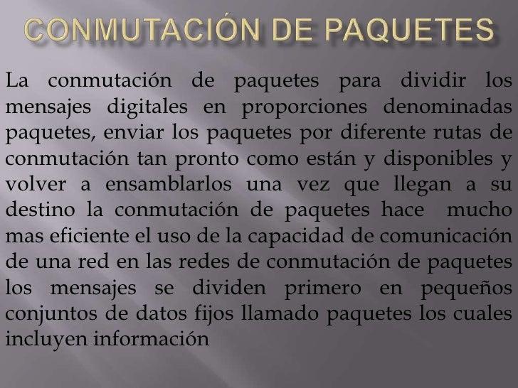 el desarrollo de estándares  de comunicación </li></li></ul><li>Computación cliente/ servidor<br />La computación cliente...