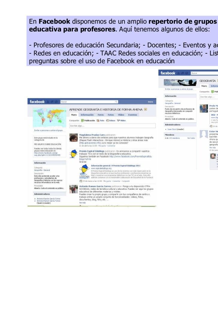 Redes sociales educacion