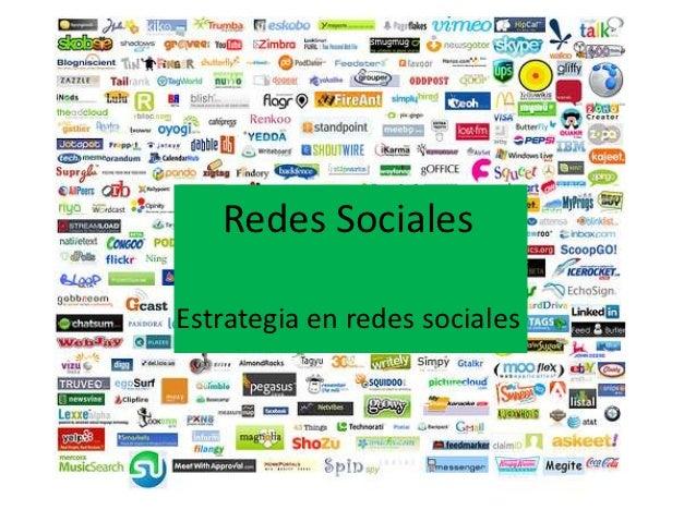 Redes SocialesEstrategia en redes sociales