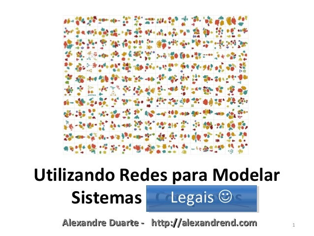 Alexandre Duarte - http://alexandrend.comAlexandre Duarte - http://alexandrend.com 1Utilizando Redes para ModelarSistemas ...