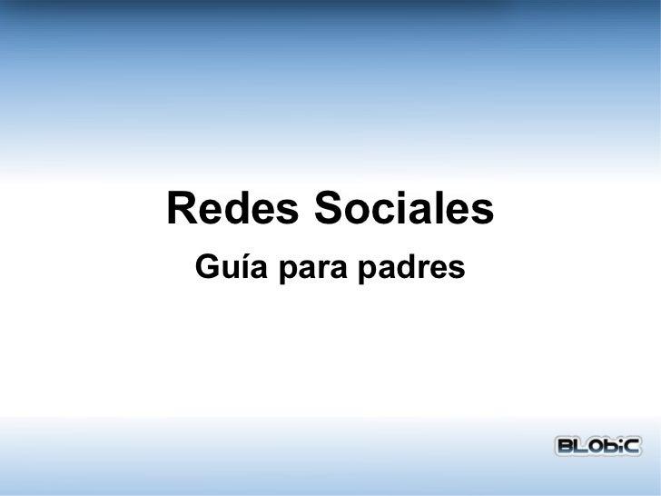 Redes Sociales Guía para padres