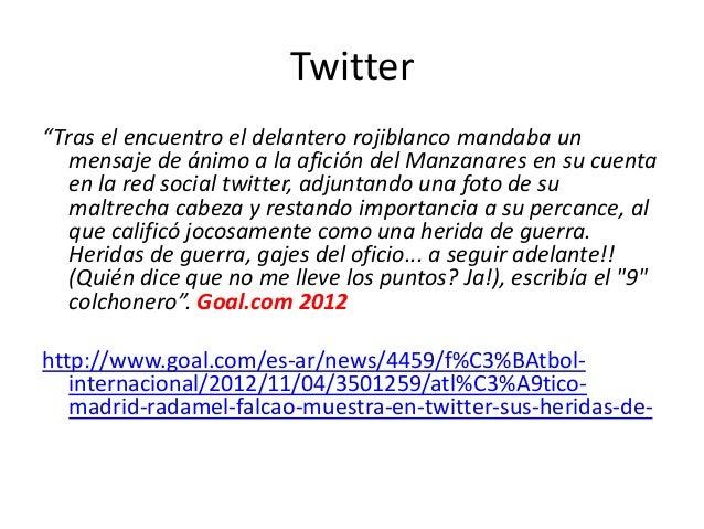 """Twitter """"Tras el encuentro el delantero rojiblanco mandaba un mensaje de ánimo a la afición del Manzanares en su cuenta en..."""
