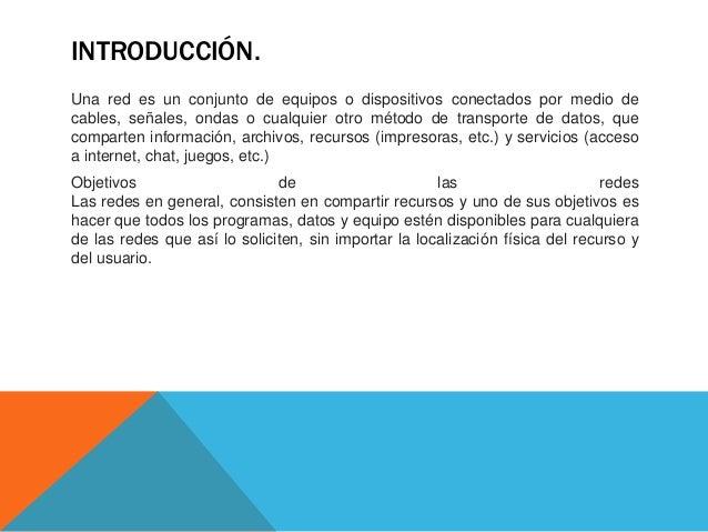 Redes informáticas.  Slide 3