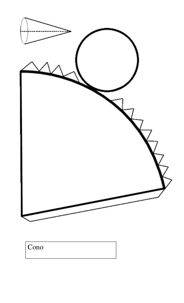 Redes cuerpos geom tricos - Como hacer un cono ...
