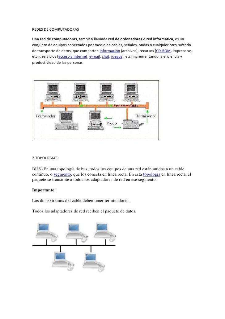 REDES DE COMPUTADORAS<br />Una red de computadoras, también llamada red de ordenadores o red informática, es un conjunto d...