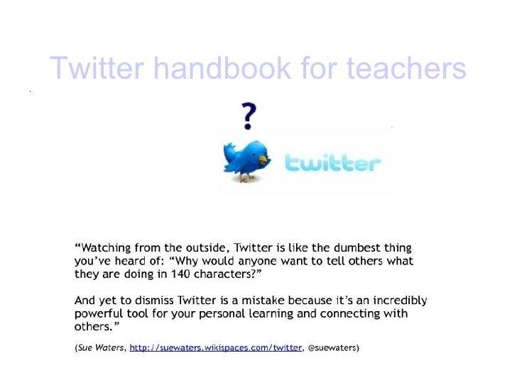 Twitter   handbook   for   teachers
