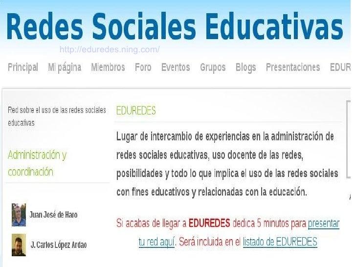 http://eduredes.ning.com/