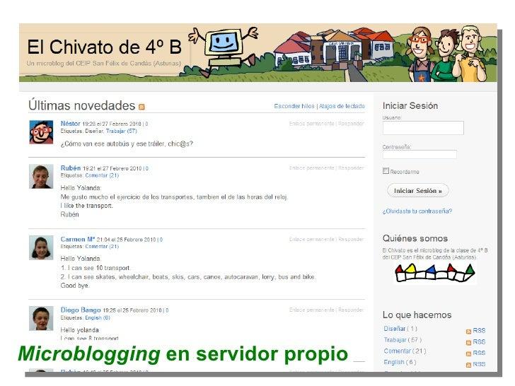 Microblogging  en servidor propio