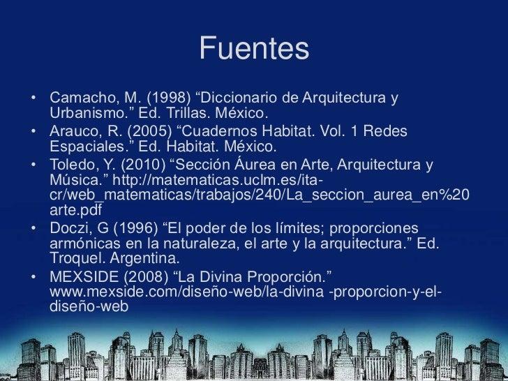 Redes espaciales y seccion aurea for Diccionario de arquitectura pdf