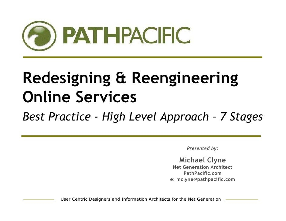 Redesigning & Reengineering Online Services Best Practice - High Level Approach – 7 Stages                                ...