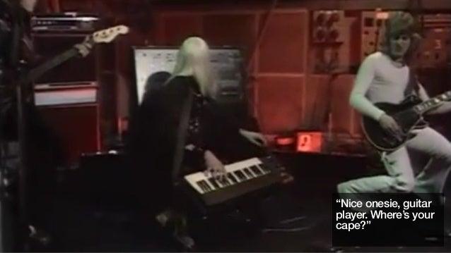 """Nice onesie, guitarplayer. Where's yourcape?"""