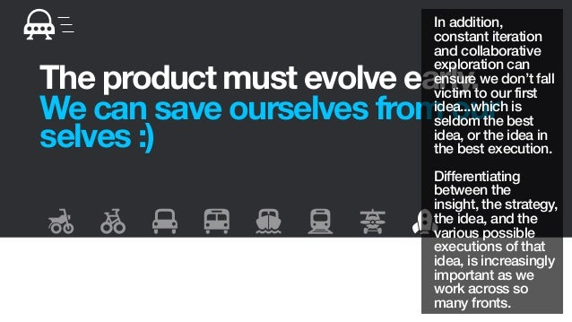 The product must evolve early.We can save ourselves from ourselves :)In addition,constant iterationand collaborativeexplor...