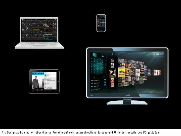 Ecosystem of screensAm interessantesten finden wir die Frage, wie wir für Nutzer spannende und sinnvolle Dramaturgien für ...