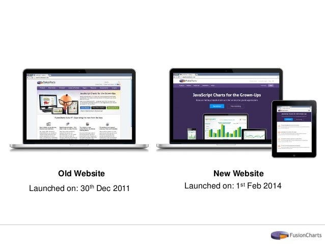 Redesigning a large B2B website - The FusionCharts revamping story Slide 3