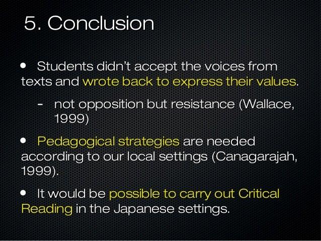 critical academic writing canagarajah 1999