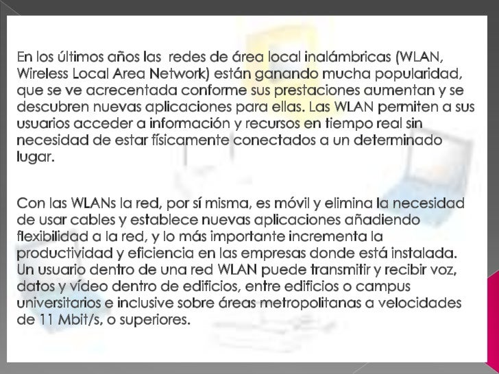 Redes inalambricass