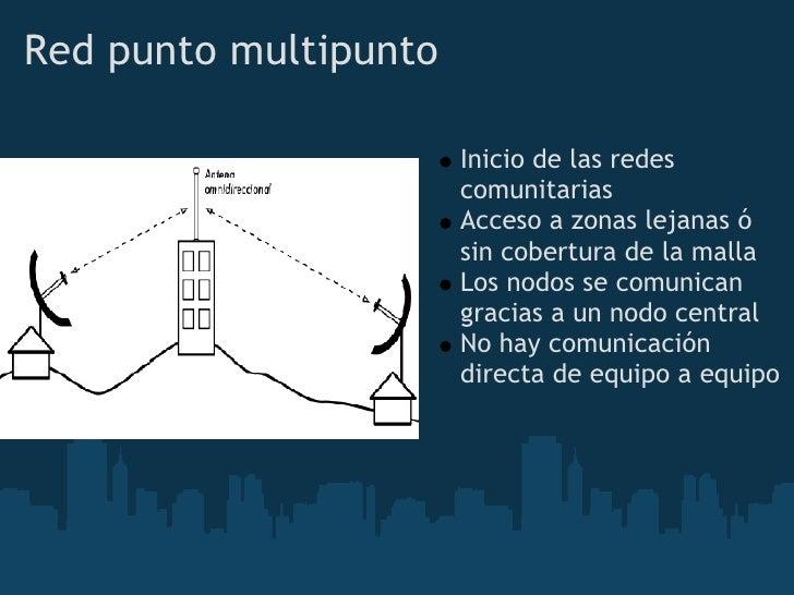 Red punto multipunto                         Inicio de las redes                        comunitarias                      ...