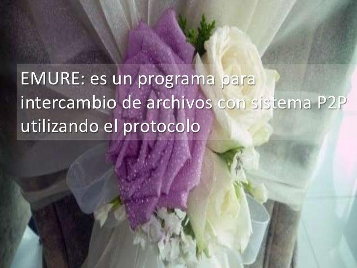 EMURE: es un programa paraintercambio de archivos con sistema P2Putilizando el protocolo