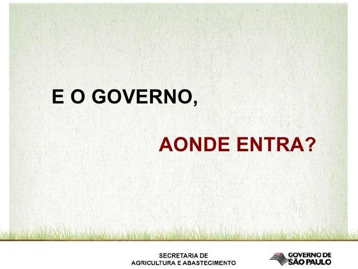 E O GOVERNO,  AONDE ENTRA?