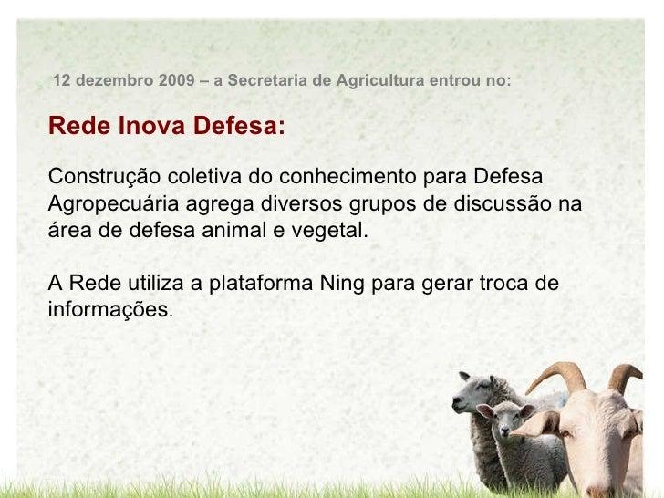 Rede Inova Defesa: Construção coletiva do conhecimento para Defesa Agropecuária agrega diversos grupos de discussão na áre...