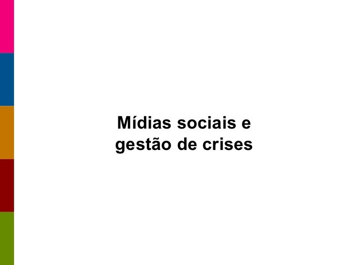 Mídias sociais e gestão de crises