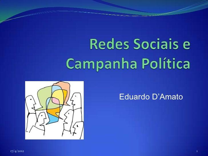 Eduardo D'Amato17/4/2012                     1