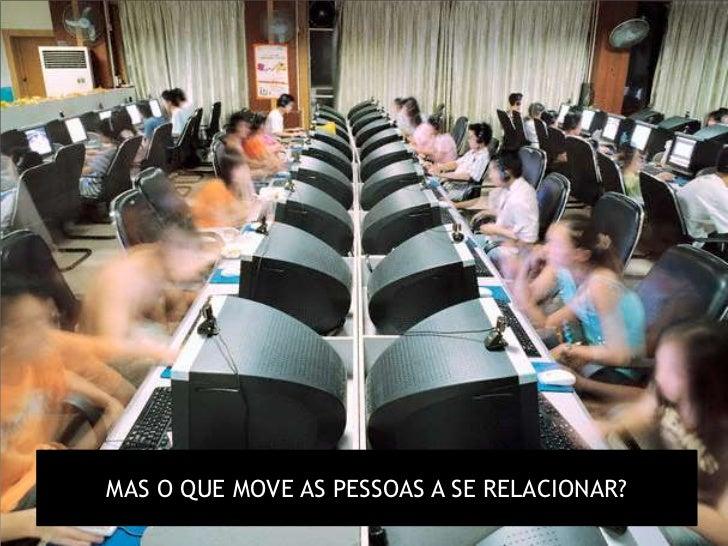MAS O QUE MOVE AS PESSOAS A SE RELACIONAR?