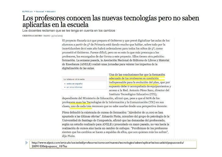 Metodologías Aprendizaje cooperativo/colaborativo:    Centrado en el profesor                                     Redes de...