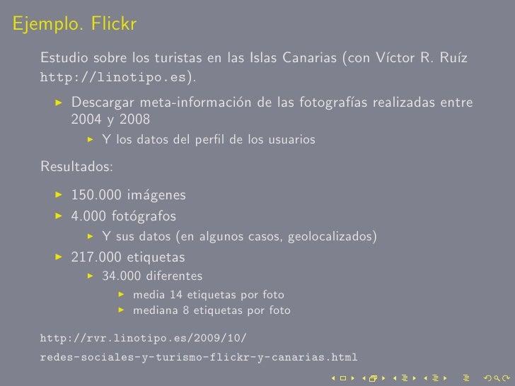 Ejemplo. Flickr    Estudio sobre los turistas en las Islas Canarias (con V´                                               ...