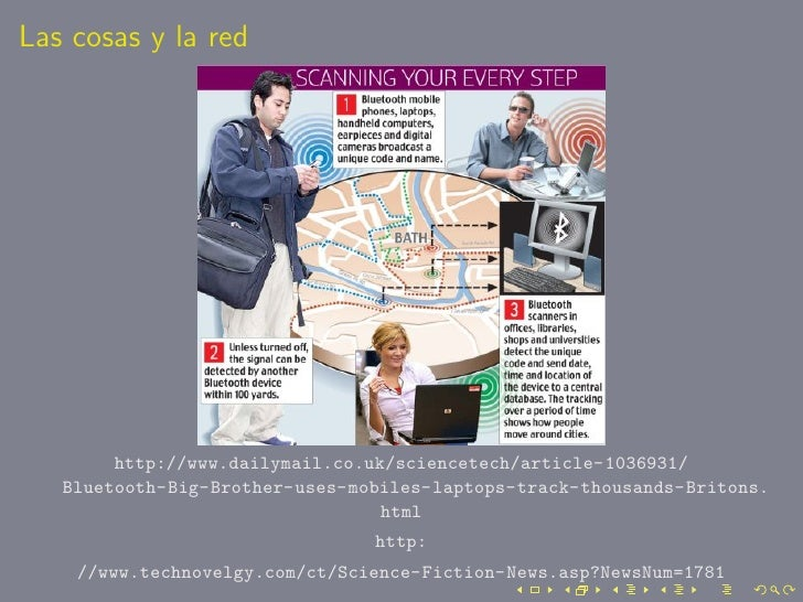 Las cosas y la red             http://www.dailymail.co.uk/sciencetech/article-1036931/    Bluetooth-Big-Brother-uses-mobil...