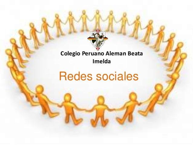 Colegio Peruano Aleman Beata Imelda Redes sociales
