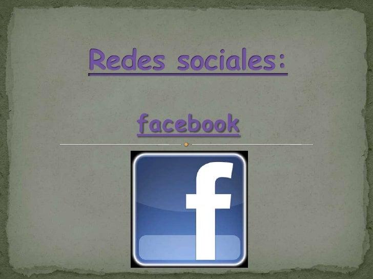Redes sociales:<br />facebook<br />